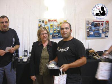Juan Luis recoge premio.